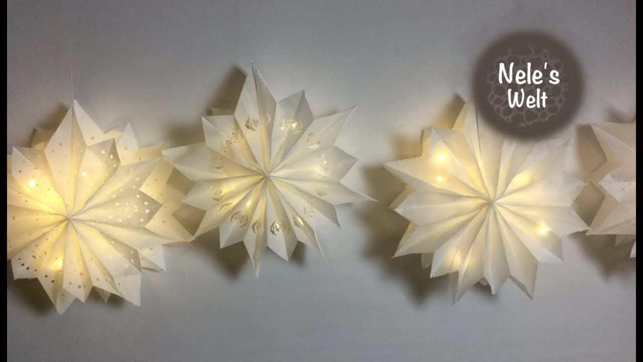 Stern Aus Butterbrottuten Leuchtstern Diy By Nele Youtube Sterne Aus Butterbrottuten Weihnachten Basteln Vorlagen Besondere Weihnachtsdeko