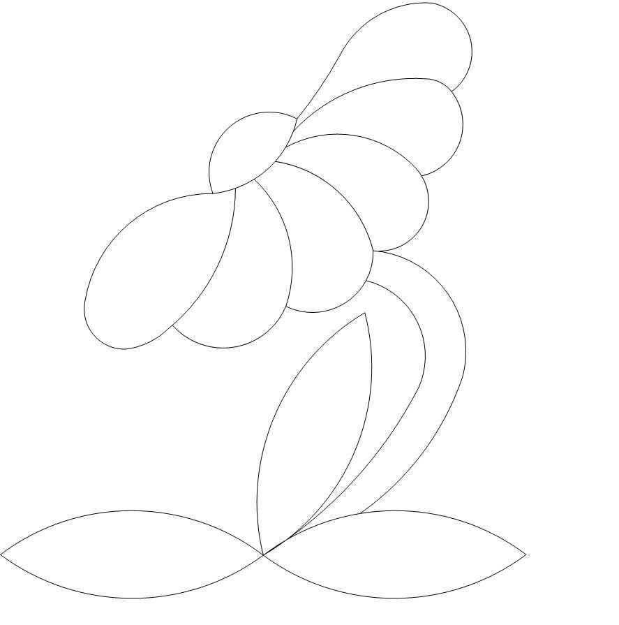 Button Daisy 2 P2p Beadwork Patterns Applique Quilting Quilting Designs