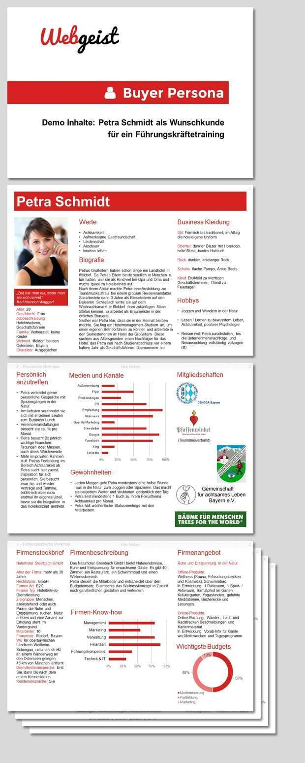 Kundenprofil Fur B2b Kundenperspektive Visualisieren Marketing Und Vertrieb Kunde Persona