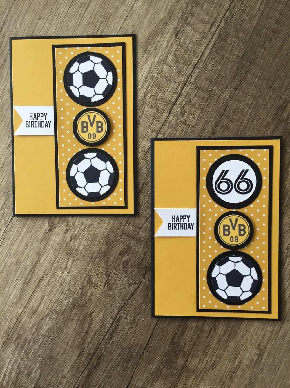 Fussballkarte Geburtstag Borussia Dortmund Paper Crafts Cards Male Cards Kids Cards