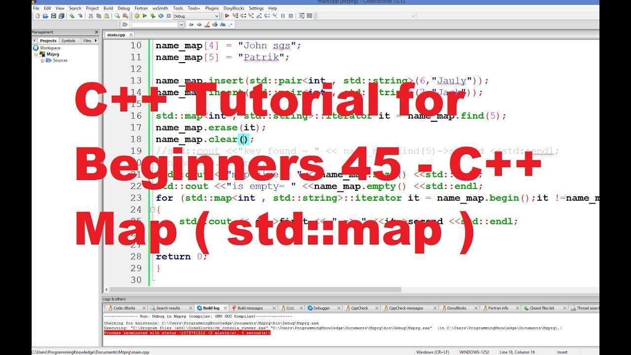C Tutorial For Beginners 45 C Map Youtube