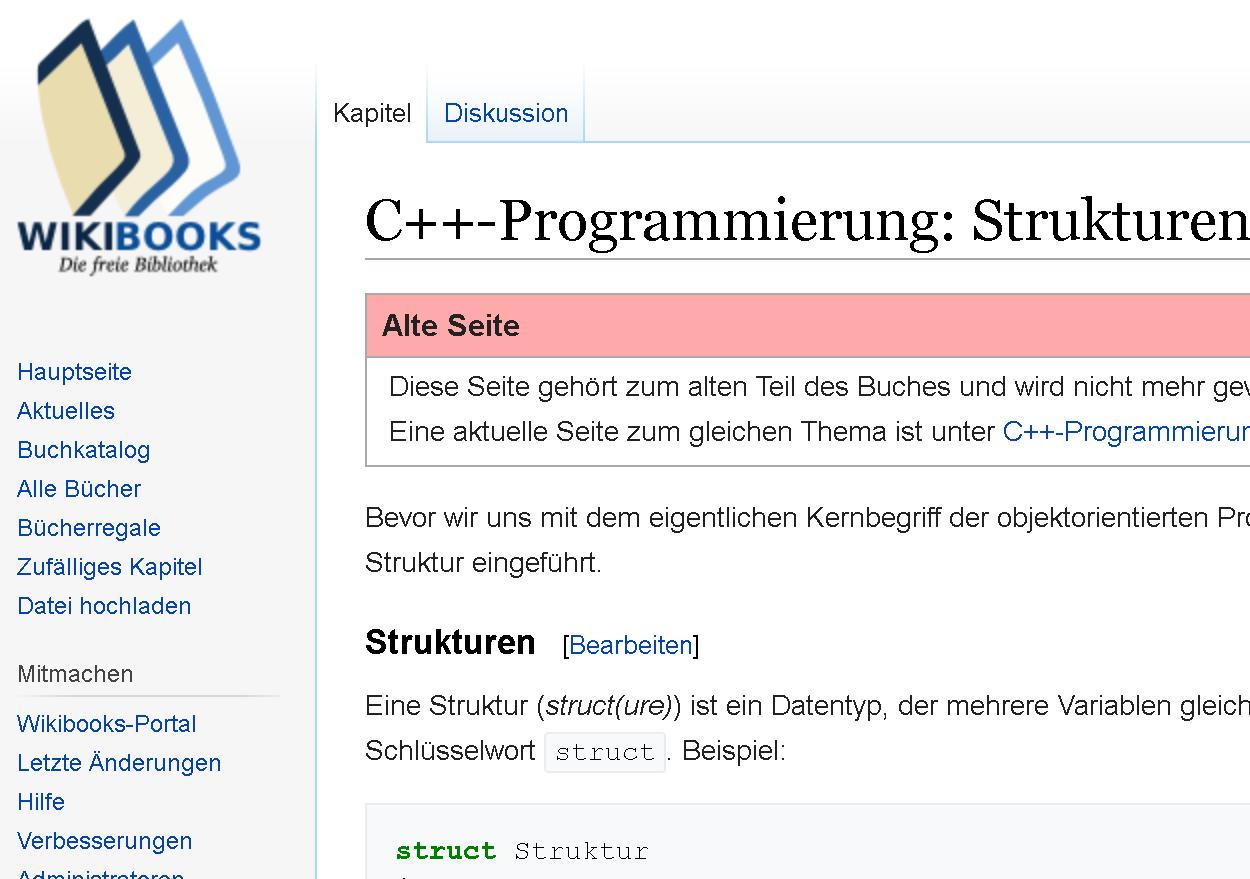 Wikibooks C Programmieren Bucher Gelehrte