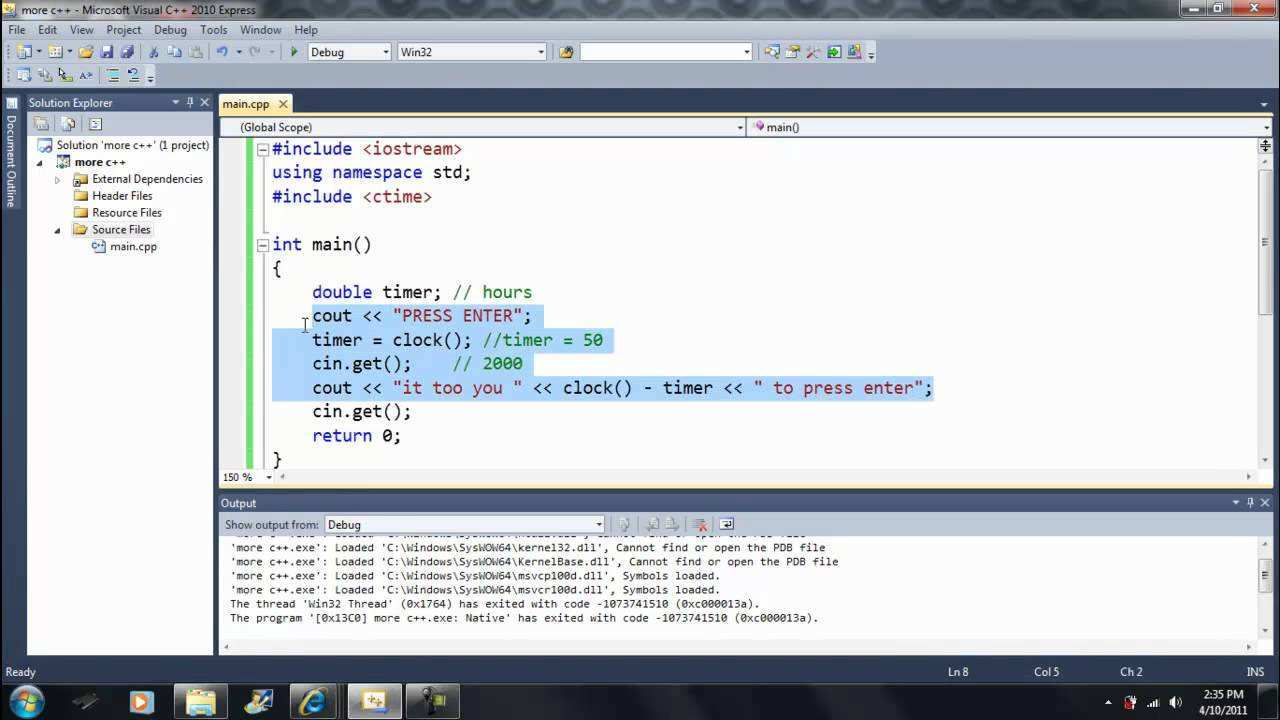 Lesson 44 Ctime Library 1 Beginning Programming With Visual Studio C 2010 Youtube