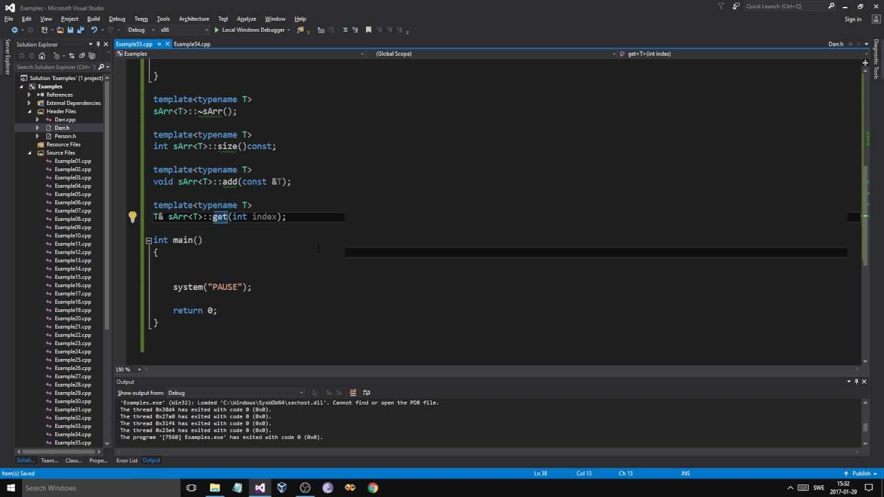 C Example 53 Template Class Array Youtube