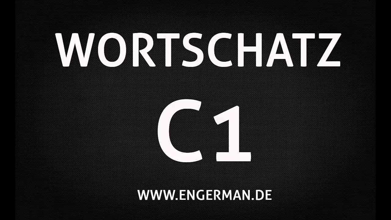 Deutsch C1 Wortschatz German C1 Vocabulary Part 2 Nemeckij