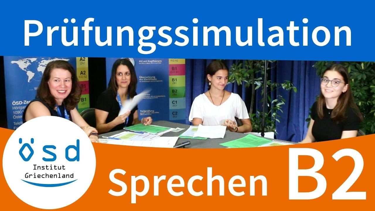 Prufungssimulation Sprechen Osd Zertifikat B2 Mundliche Prufung Mundliche Prufung Deutsch Lernen Prufung