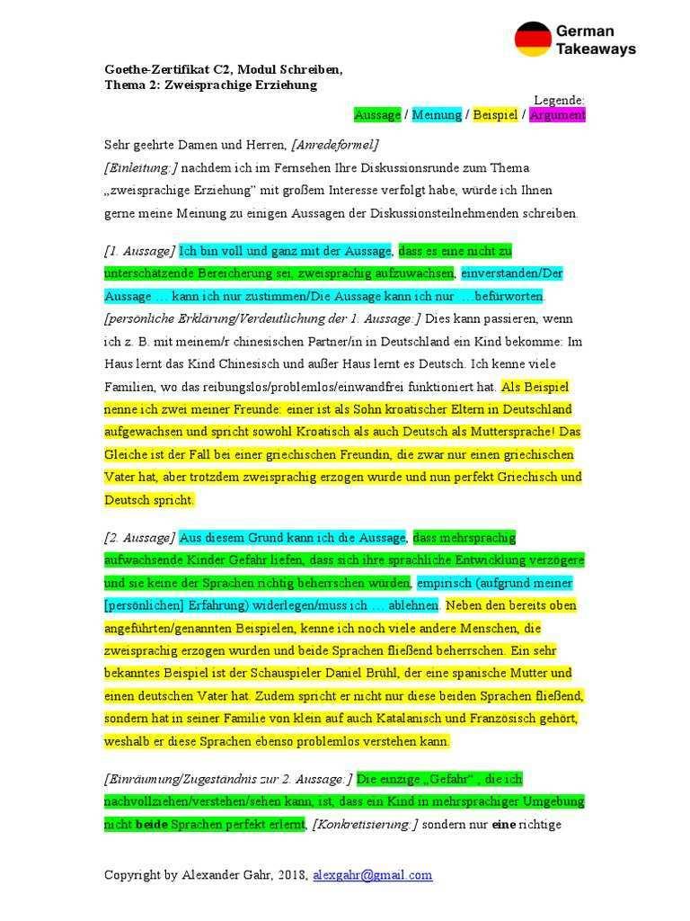 Goethe Schreiben C2 Teil 2 Pdf