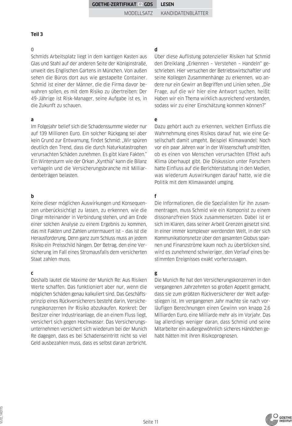 Goethe Zertifikat C2 Pdf Free Download