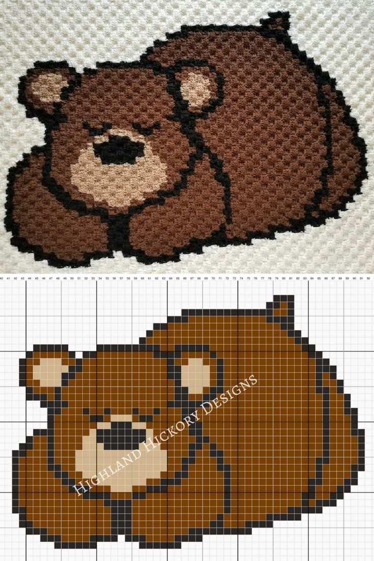 Sleepy Bear Baby Blanket C2cbabyblanket Crochet The Sleepy Bear Baby Blanket Using This Free C2c Corner To Teddybar Muster Baby Hakelmuster Babydecke Hakeln