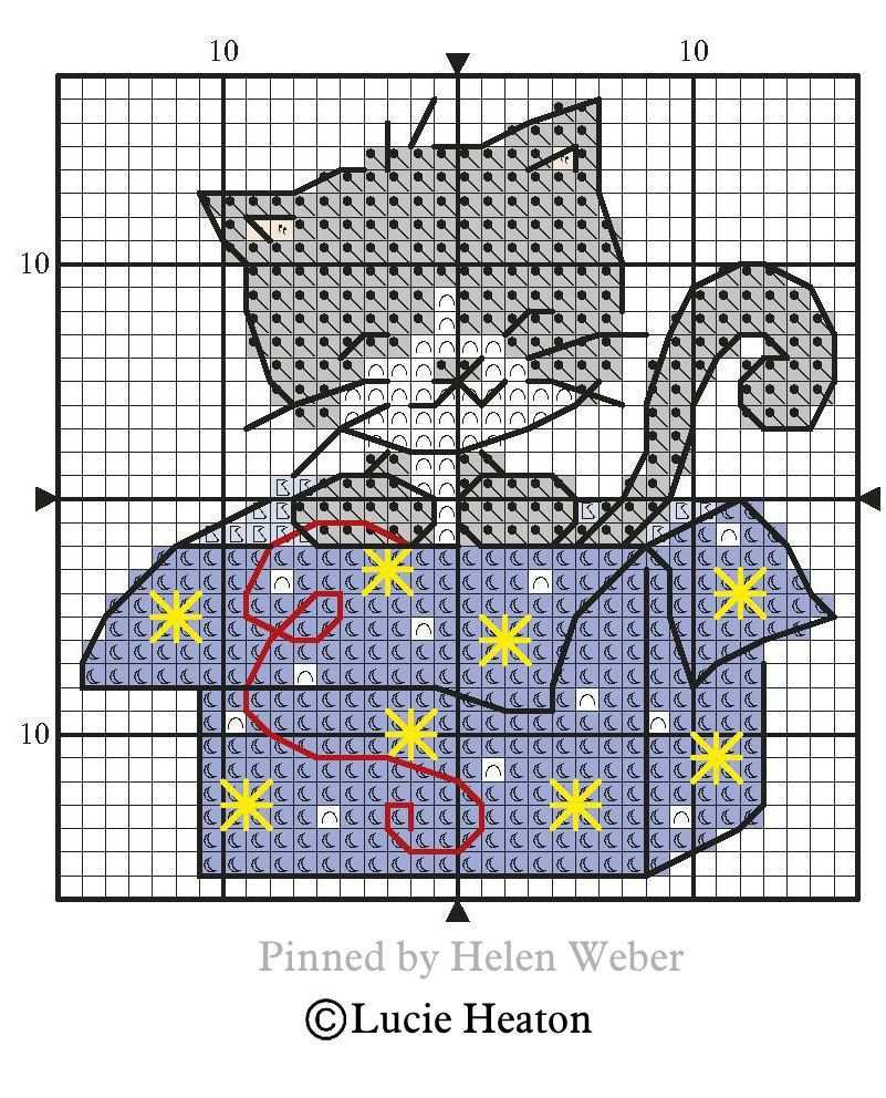 Cat In The Box Cross Stitch Animals Cross Stitch Patterns Christmas Cat Cross Stitches