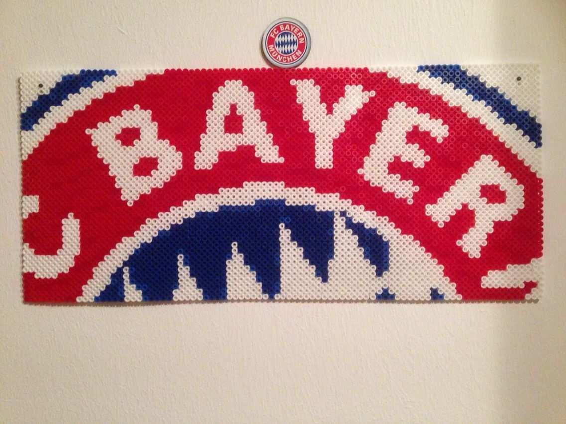 Fcb Bayern Munchen Bugelperlen Perler Beads Bugelperlen Basteln Mit Kindern Kreuzstich