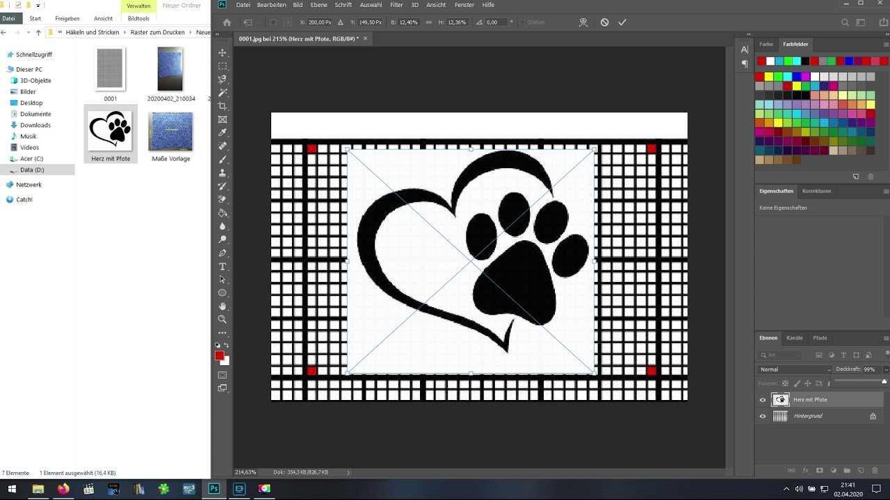 C2c Vorlage Mit Photoshop Erstellen Pc Youtube
