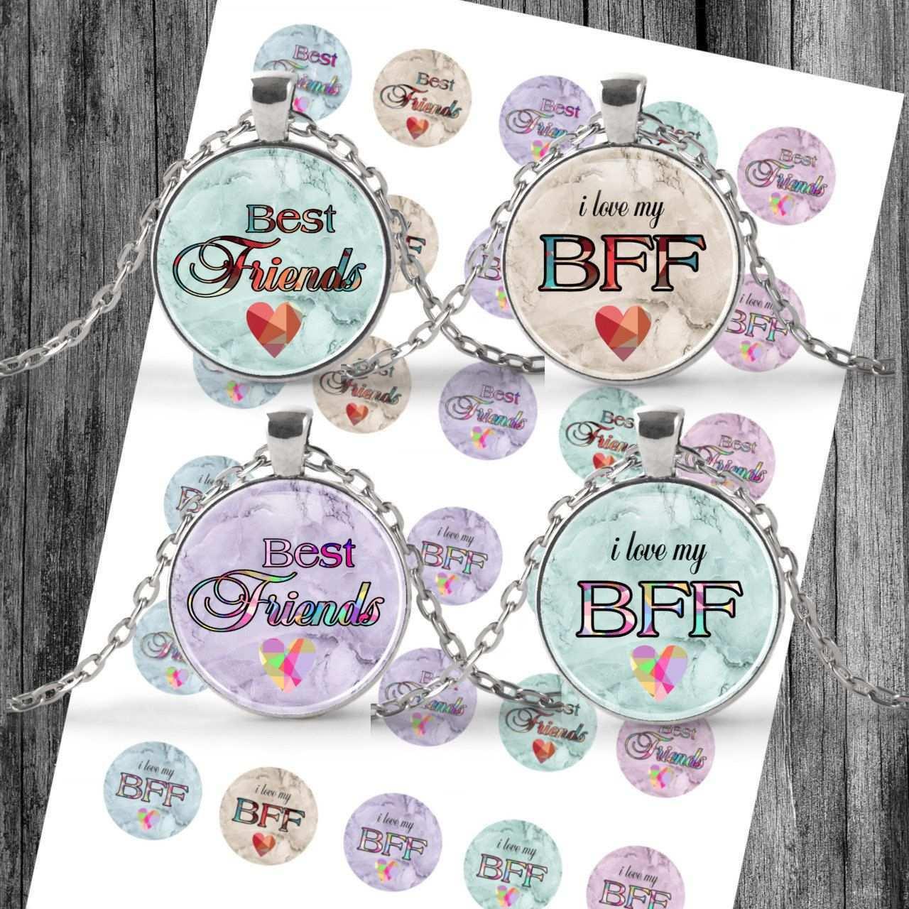Cabochon Vorlagen Digital Download Template Bff Best Friends Etsy Etsy Etsy Seller I Love My Friends