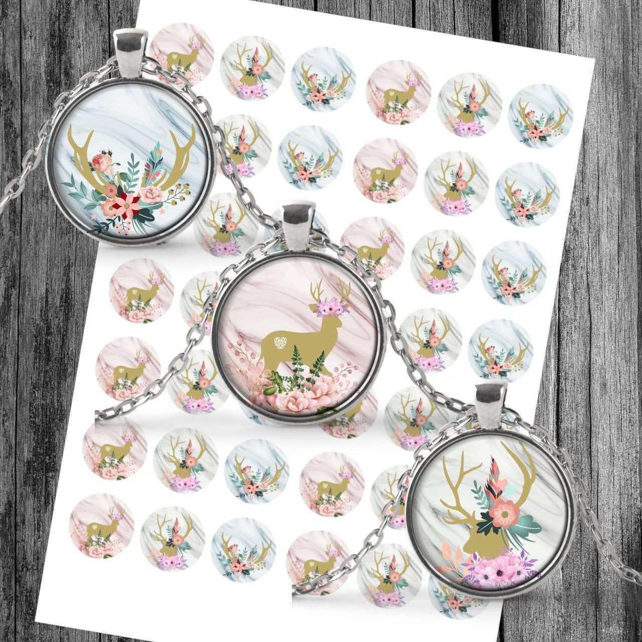 Cabochon Vorlagen Digital Download Template Deer Collage Fur Etsy Etsy Gifts For Him Etsy Seller