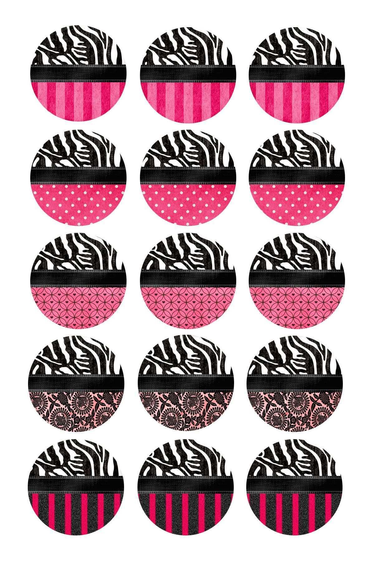 Editable Bottle Cap Images Cabochon Vorlagen Vorlagen Basteln