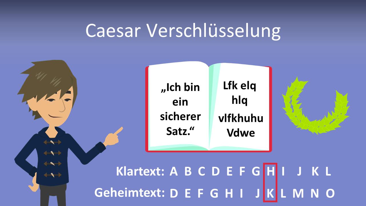 Caesar Verschlusselung Erklarung Beispiel Java Mit Video