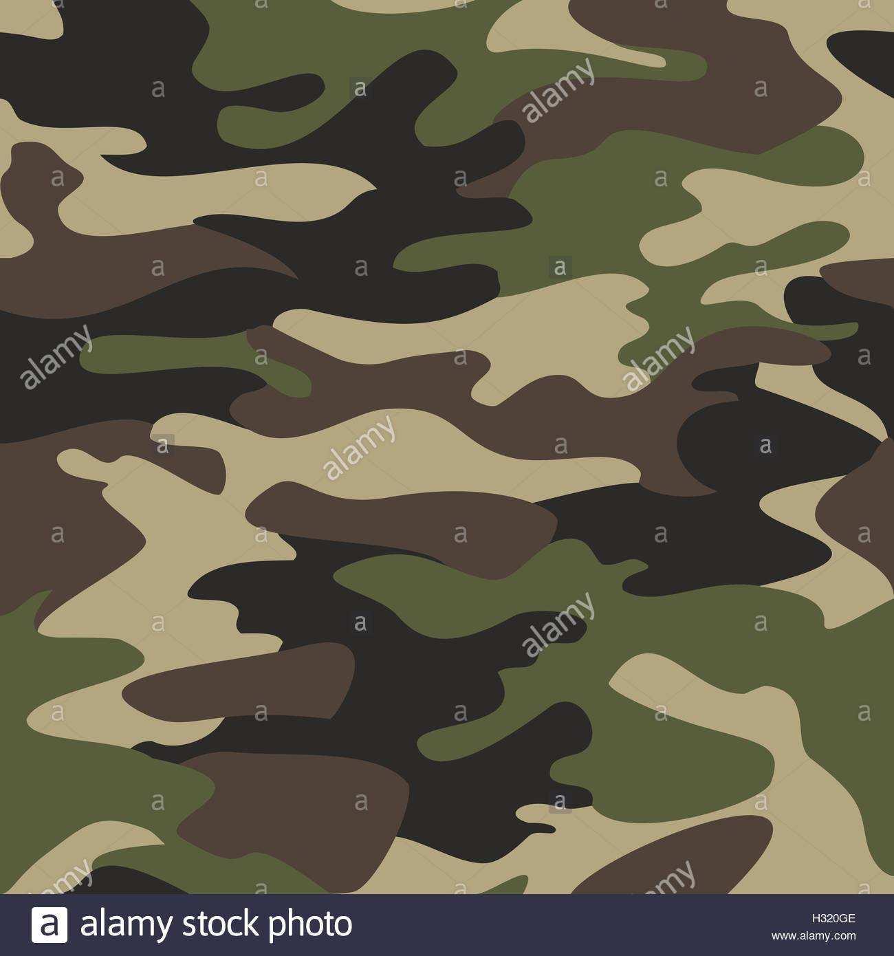 Camouflage Muster Hintergrund Nahtloser Vektor Illustration Klassische Kleidungsstil Maskierung Camo Wiederholten Druck Grun Braun Schwarz Stock Vektorgrafik Alamy