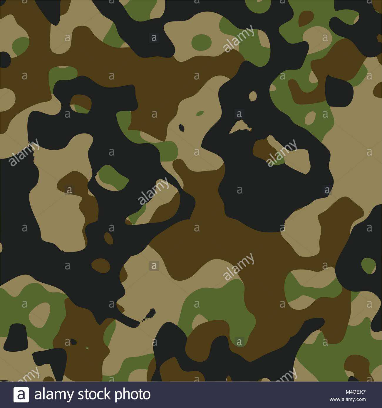 Grun Und Schwarz Camouflage Muster Military Style Camo Hintergrund Stock Vektorgrafik Alamy