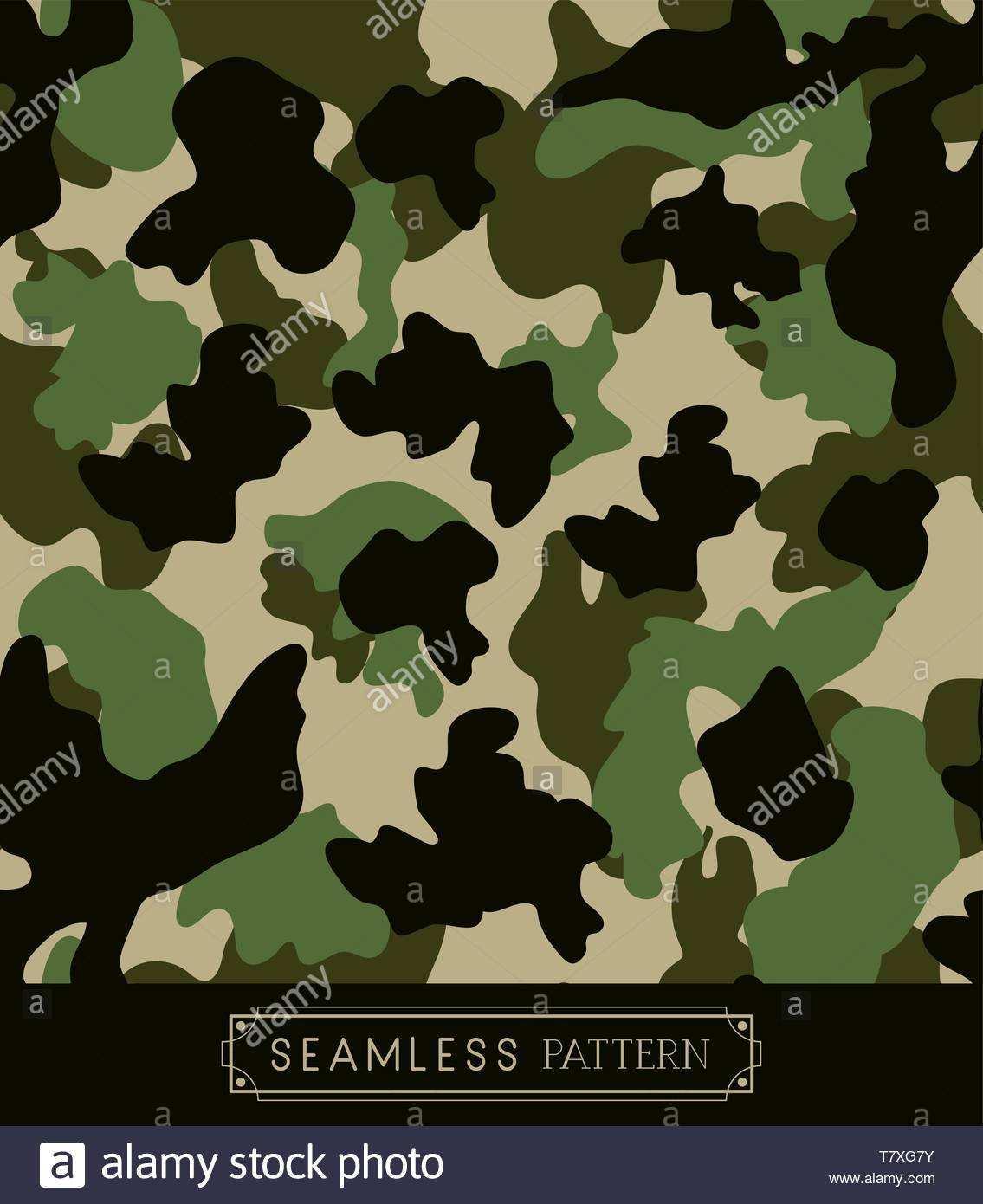 Military Camouflage Muster Hintergrund Stock Vektorgrafik Alamy