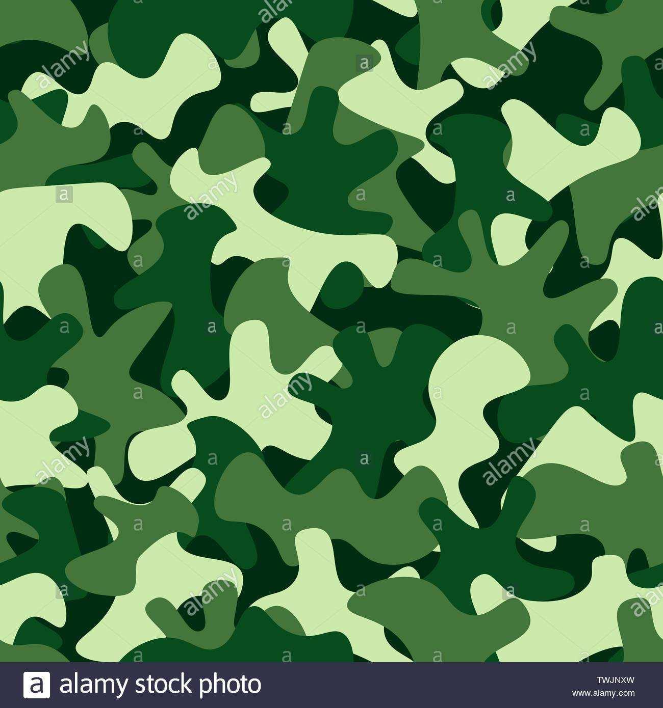 Camouflage Muster Hintergrund Klassische Kleidung Stil Maskierung Camo Wiederholen Stock Vektorgrafik Alamy