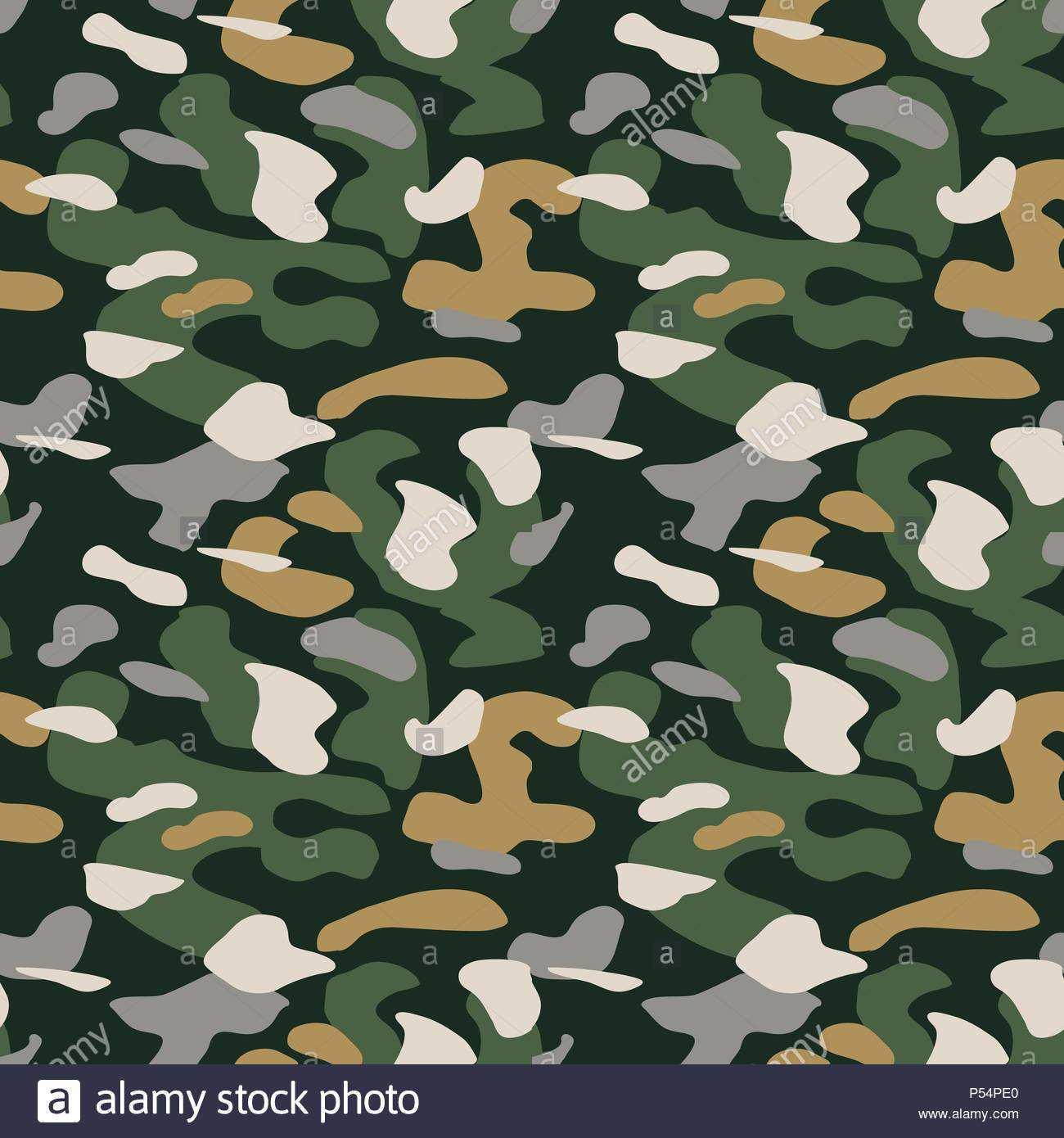 Camouflage Muster Hintergrund Nahtlose Vektor Illustration Klassische Militarische Kleidung Stil Camo Textur Shirt Wiederholen Grun Braun Schwarz Grau N Stock Vektorgrafik Alamy