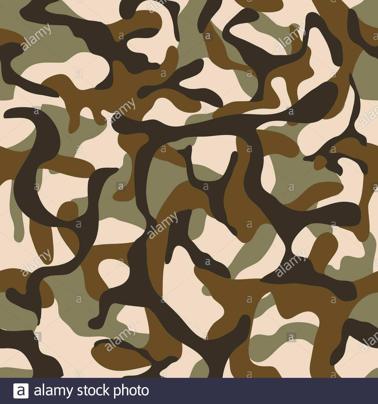 Camouflage Militarvektor Nahtloses Muster Armee Hintergrundkleidung Fur Einheitliche Soldatenillustration Stock Vektorgrafik Alamy