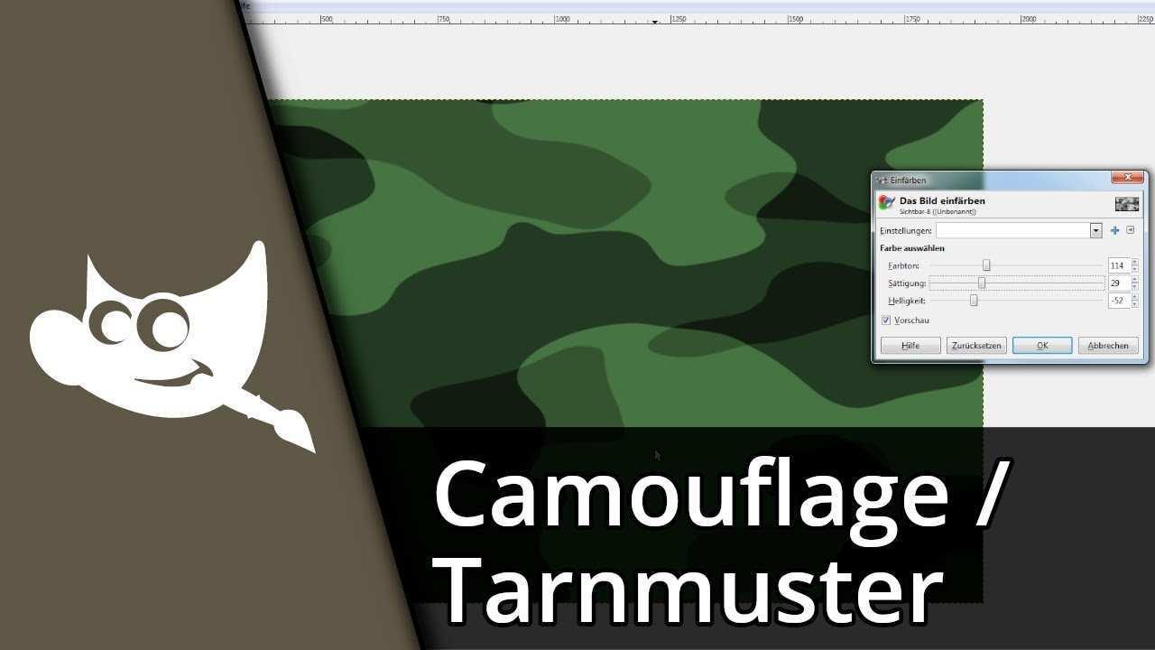 Gimp Camouflage Erstellen Tarnmuster Tutorial Deutsch Hd Youtube