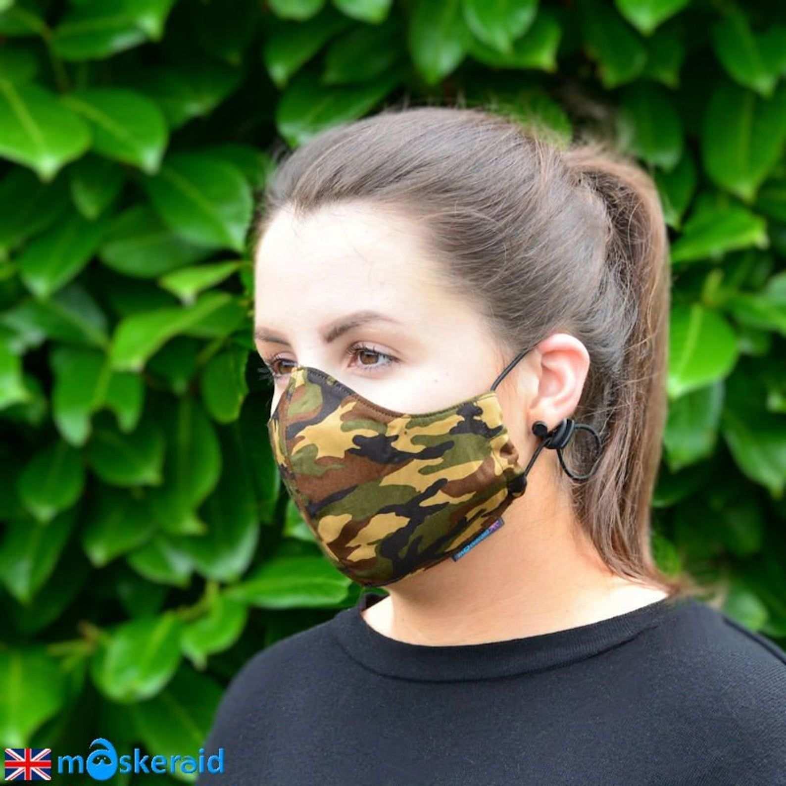 Maskeraid Camouflage Wiederverwendbare Baumwolle Etsy Masken Gesichts Masken Gesichtsmaske Diy