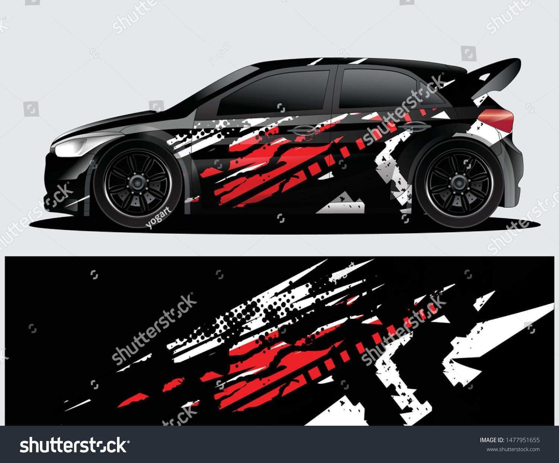 Rally Car Decal Graphic Wrap Vector Abstract Background Car Sticker Design Rally Car Car Wrap Design