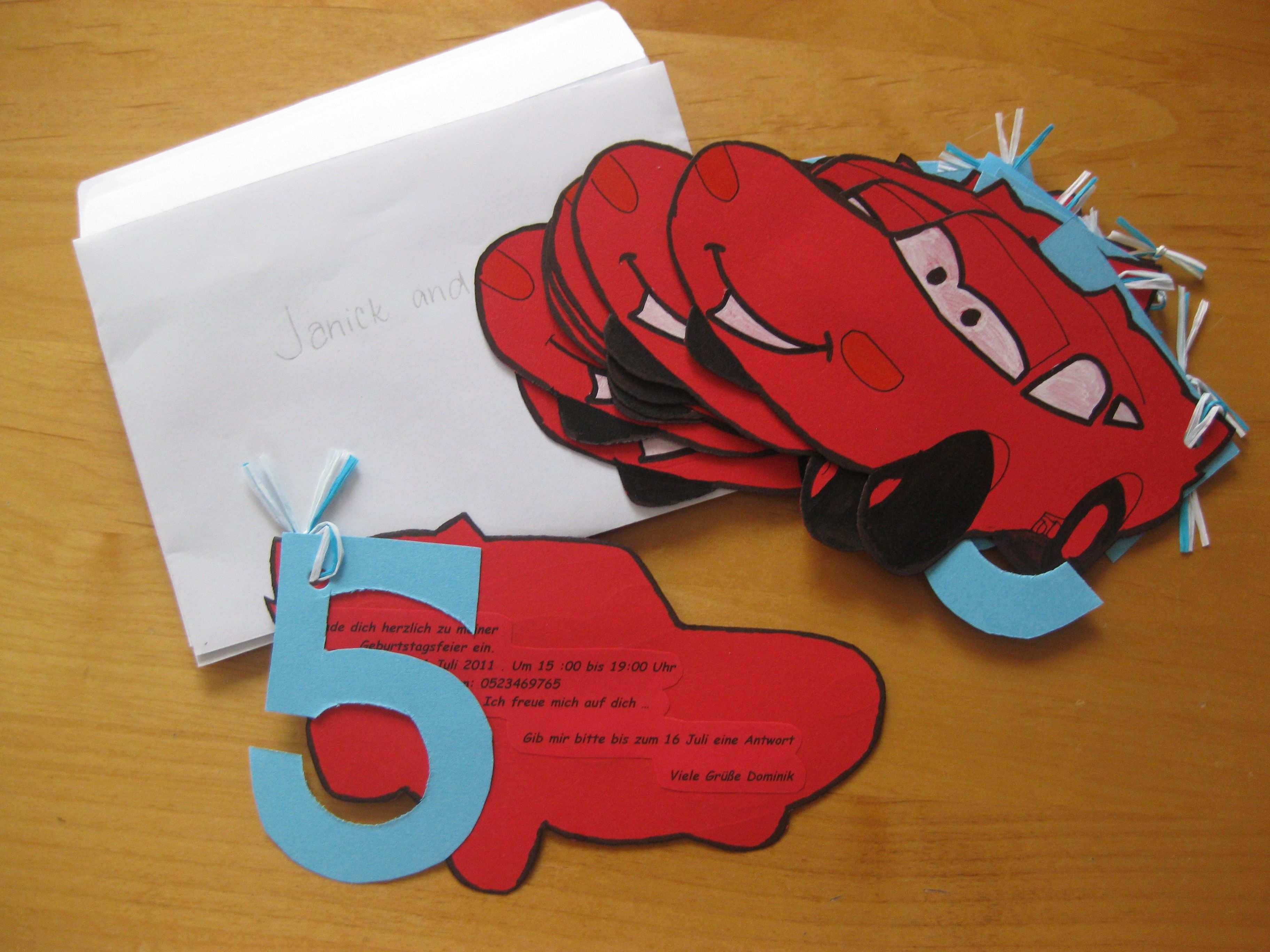 Cars Invitation Cards Einladungskarten Kindergeburtstag Selber Basteln Einladungskarten Kindergeburtstag Einladungskarten Kindergeburtstag Basteln