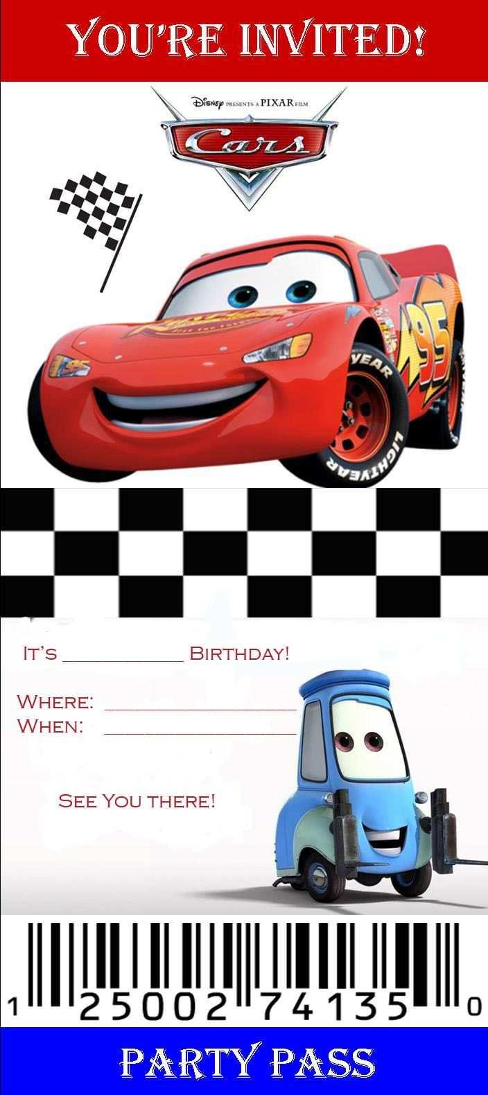 Free Invite3 1 Jpg 704 1 580 Pixels Disney Cars Ulang Tahun