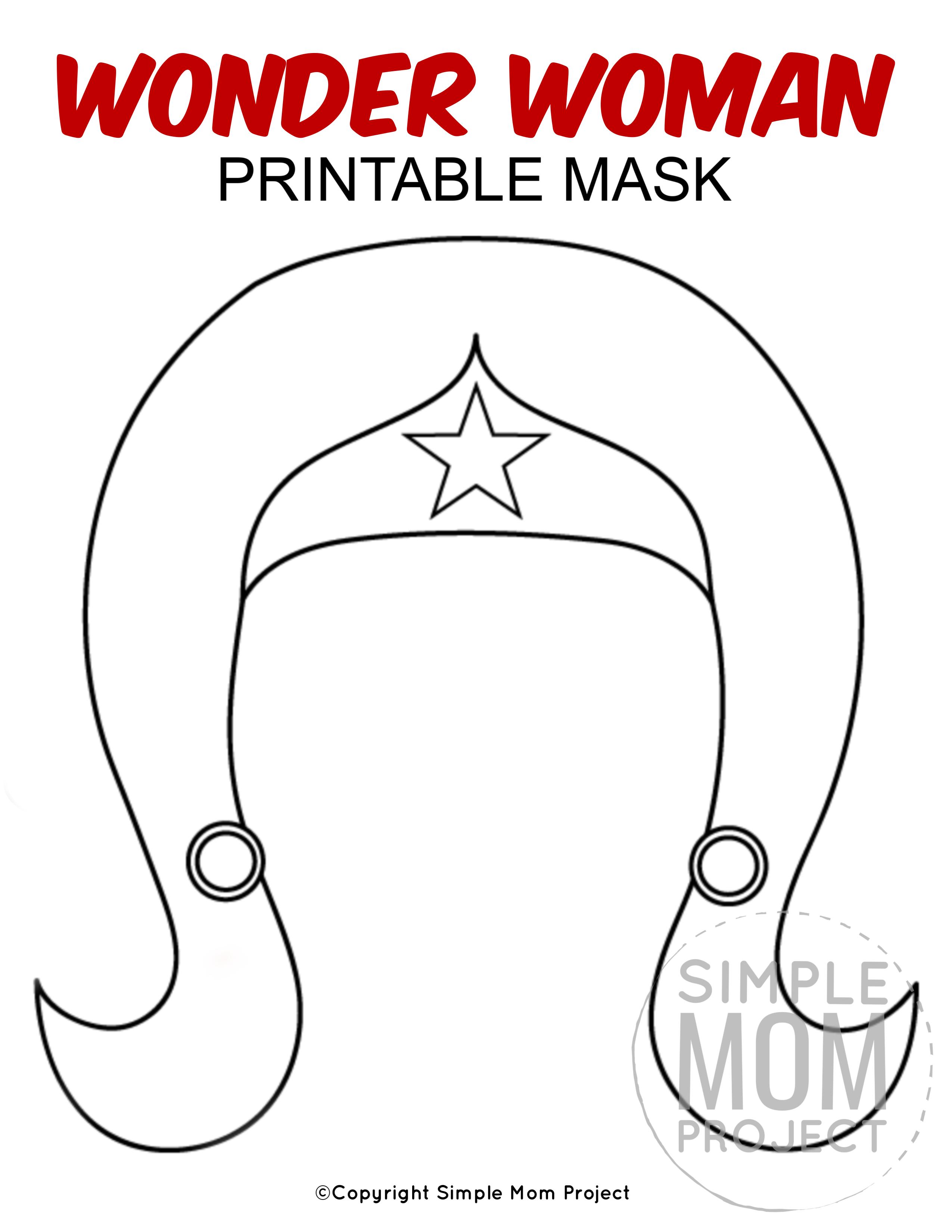 Free Printable Wonder Woman Mask Template Mask Template Superhero Mask Template Wonder Woman Mask