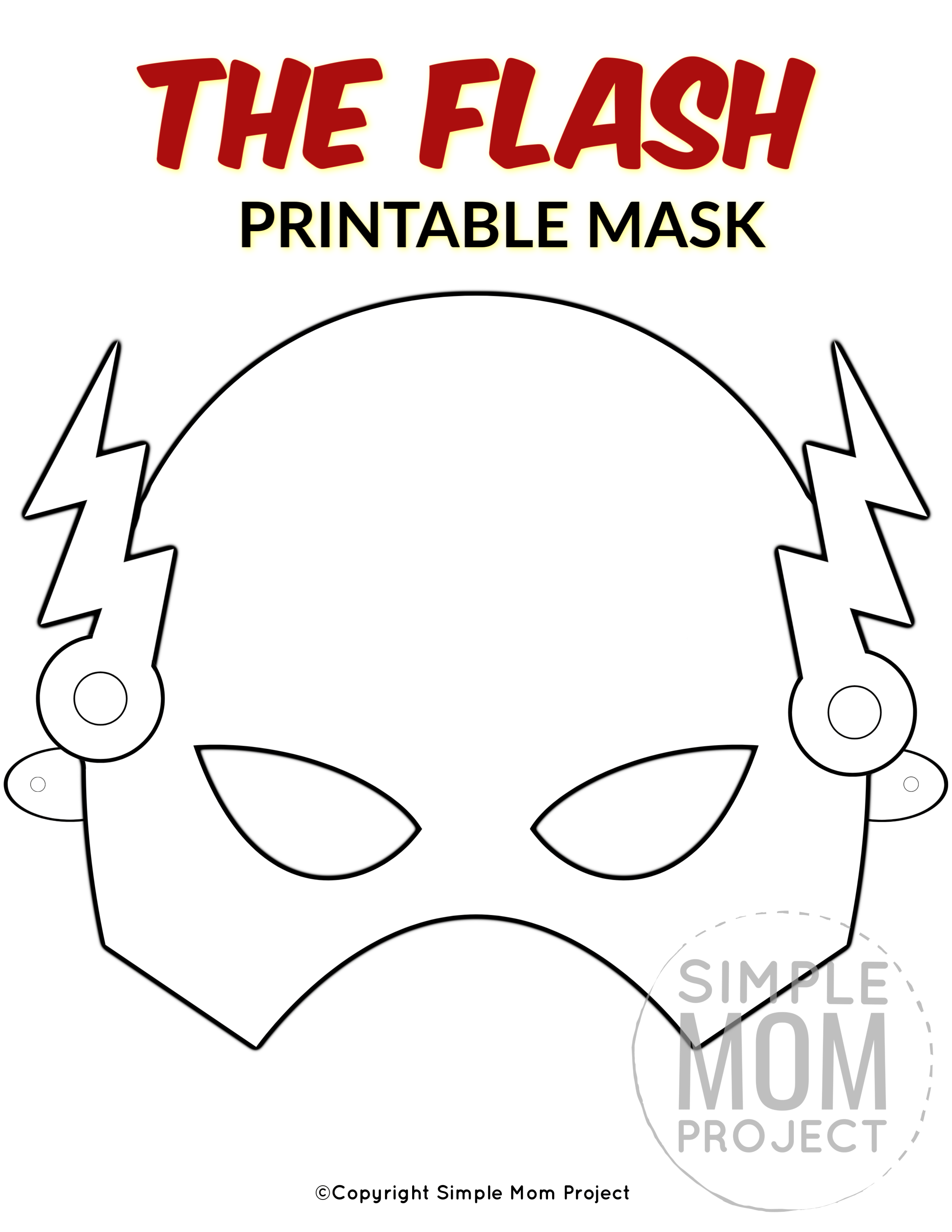 The Flash Free Printable Mask Template Face Masks For Kids Mask For Kids Mask Template Printable