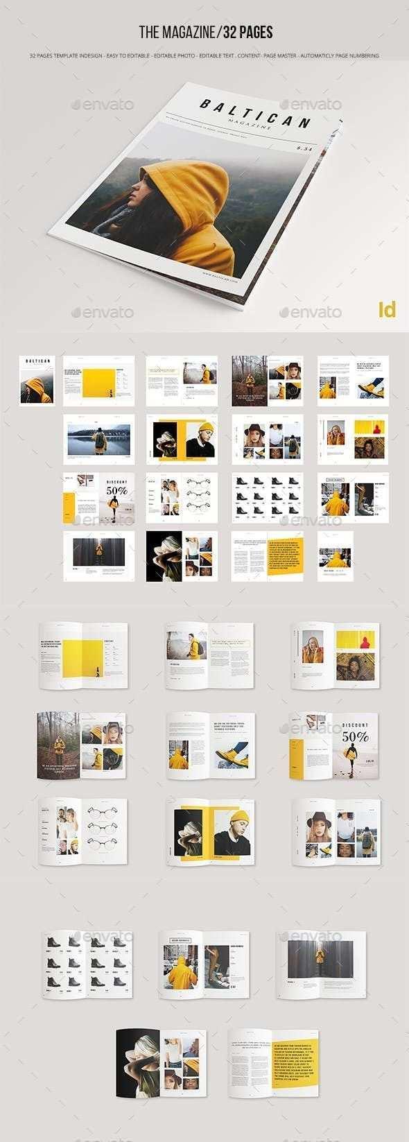 Brochure Template Indesign Indd In 2020 Layout Design Broschure Design Zeitschriften Layouts