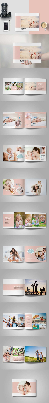 Familien Oder Baby Fotoalbum Vorlage Indesign Indd M K Photo Album Design Photo Album Layout Baby Photo Album