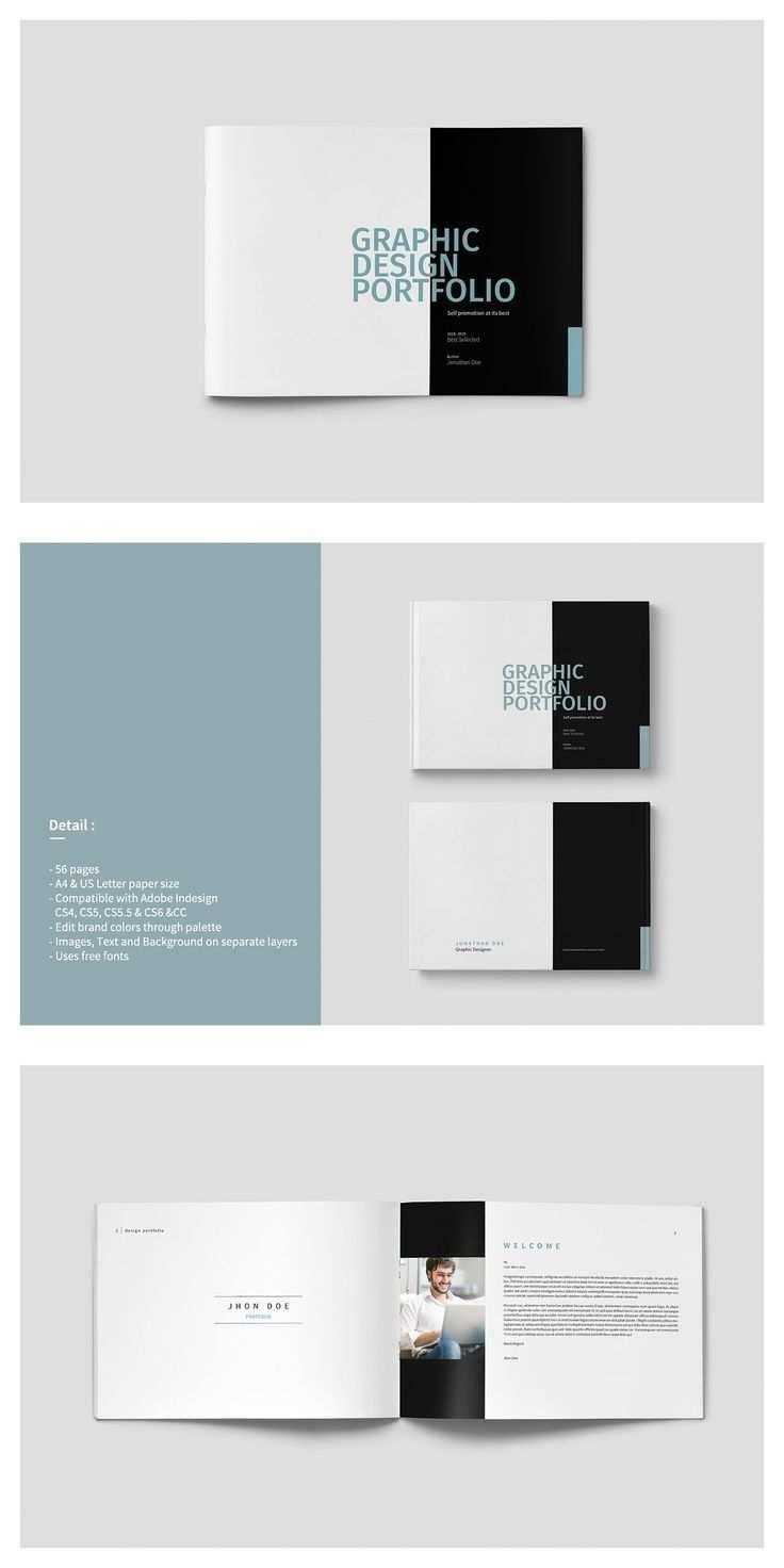 Graphic Design Portfolio Template Portfolio Lookbook Brochure Template Indesign Grafisc In 2020 Portfolio Template Design Portfolio Design Layout Portfolio Design