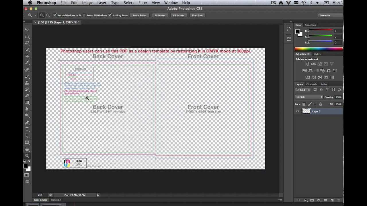 How To Use Cd Templates In Adobe Photoshop Youtube