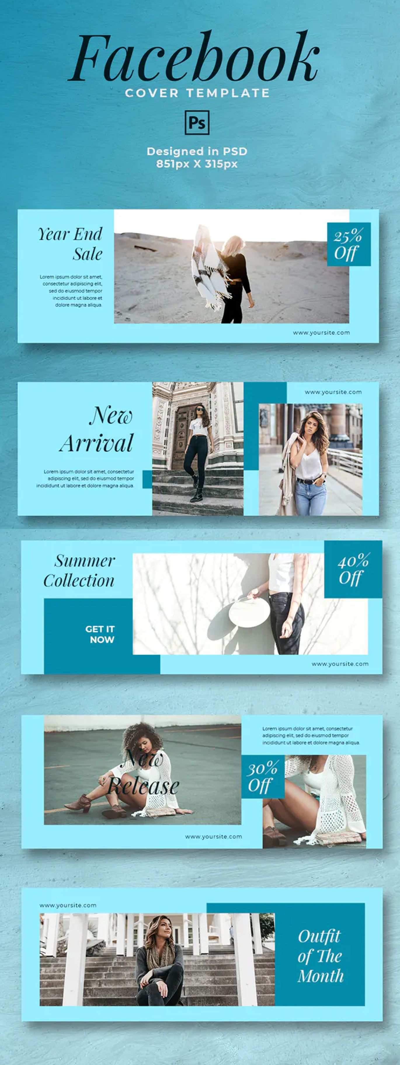 Trend Fashion Facebook Cover Template Psd In 2020 Facebook Cover Template Cover Template Facebook Cover