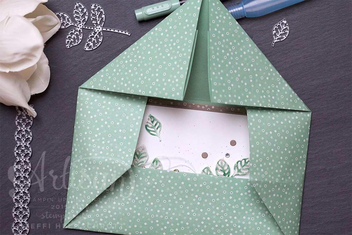 Gluckwunschkarte Mit Origami Umschlag Video Origami Umschlag Umschlag Falten Und Origami