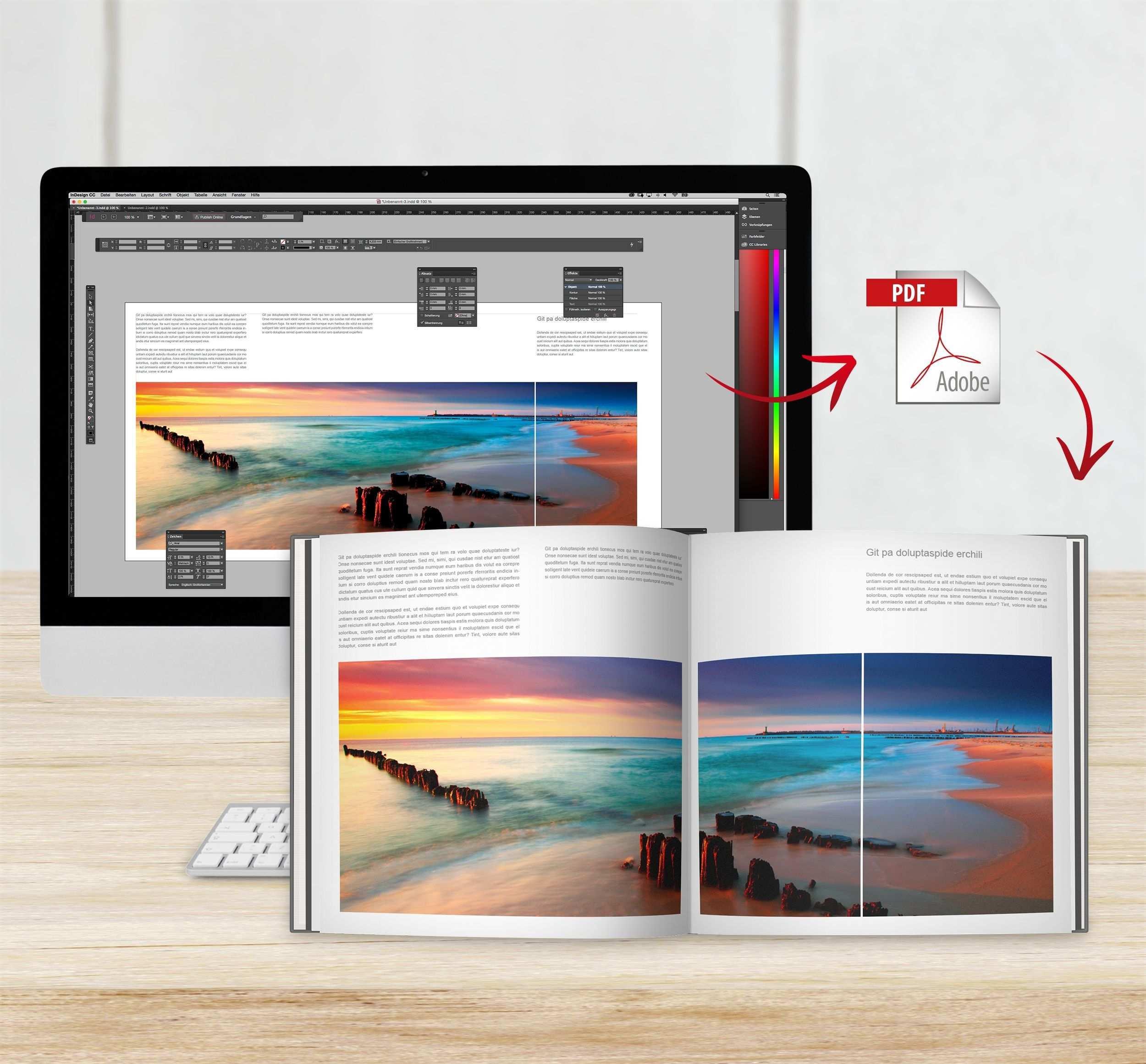 Cewe Fotobuch Mit Adobe Indesign Erstellen Fotobuch Bucher Cewe