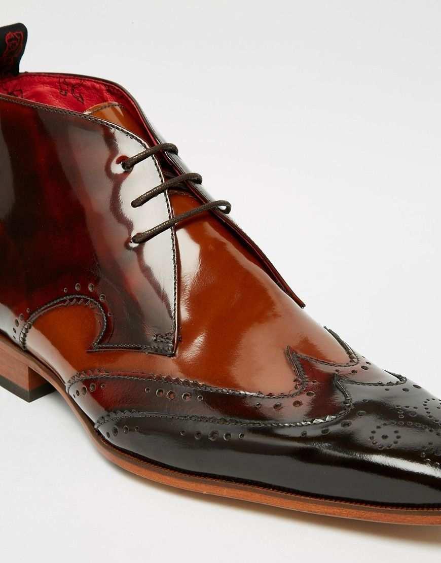 Jeffery West Leather Brogue Chukka Boots At Asos Com Boots Chukka Boots Boots Men