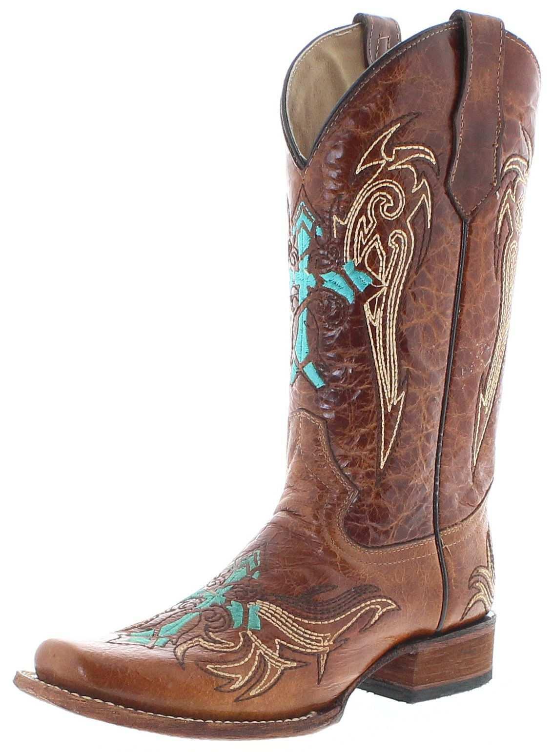 Circle G Boots L5463 Honey Turquoise Damen Westernstiefel Braun Fashion Boots