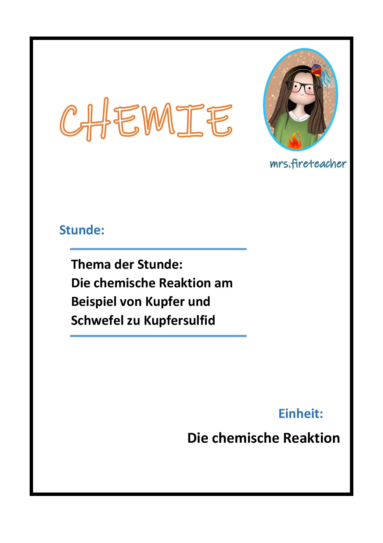 Versuch Kupfer Und Schwefel Stundenentwurf Die Chemische Reaktion Unterrichtsmaterial Im Fach Chemie Chemische Reaktion Chemie Chemisch