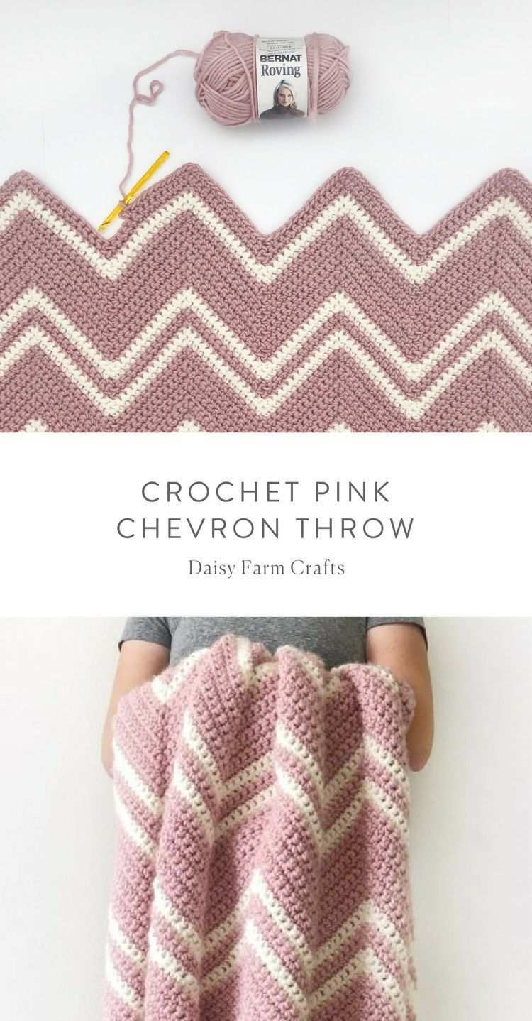 Free Pattern Crochet Pink Chevron Throw Crochet Free Crochet Pattern Knitting