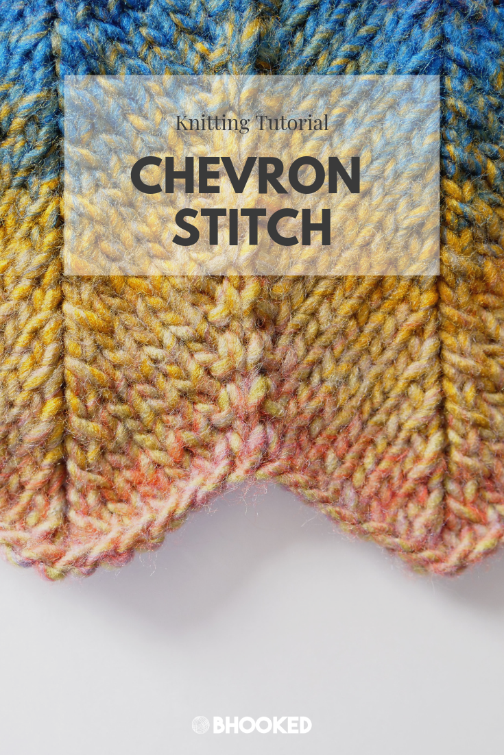 Knit Chevron Stitch Step By Step Tutorial Instructions Chevron Stitch Knitting Stitches Knit Stitch Patterns