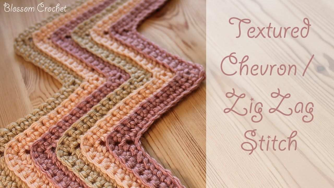 Crochet Textured Chevron Zig Zag Stitch Youtube Zig Zag Crochet Pattern Chevron Crochet Patterns Zig Zag Crochet