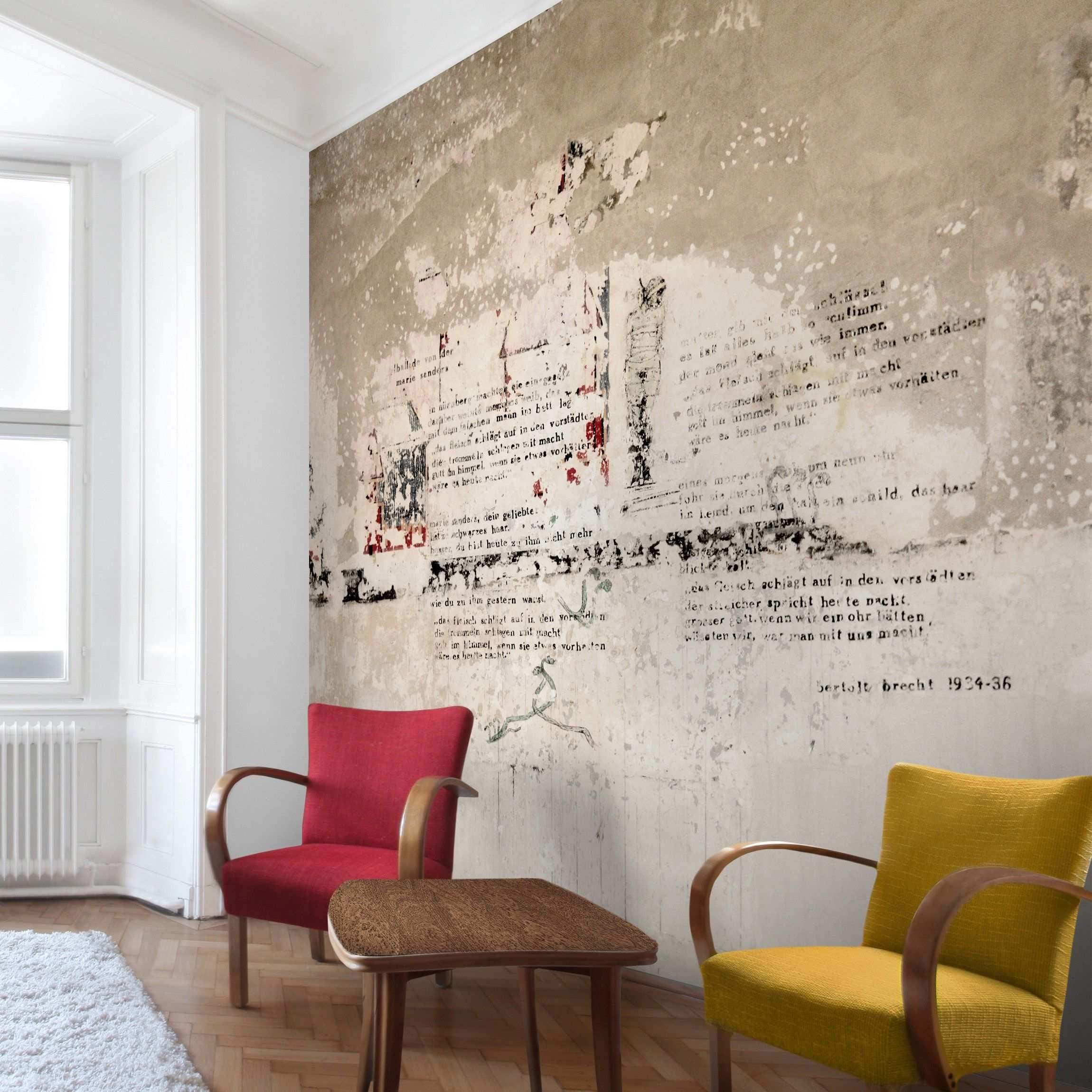 Vliestapete Betonoptik Fototapete Betonwand Bertolt Quadrat Tapete Brecht Versen Alte Mittapete Betonoptik Al Home Wallpaper Distressed Walls Wall