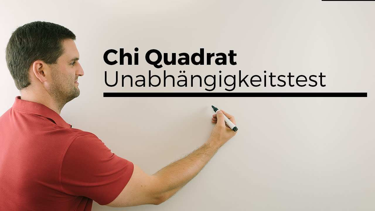 Chi Quadrat Unabhangigkeitstest 1 Stochastik Statistik Testen Mathe By Daniel Jung Youtube