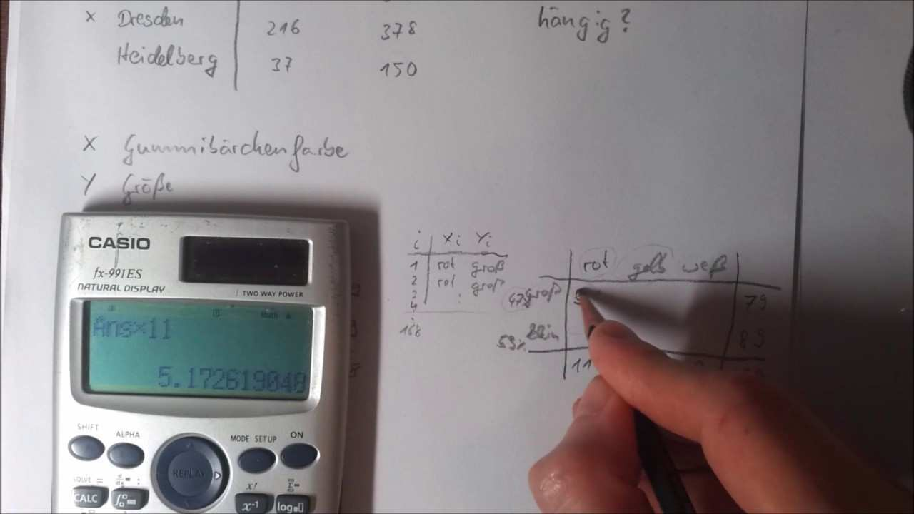Statistik Aufholkurs Chi Quadrat Berechnen Youtube