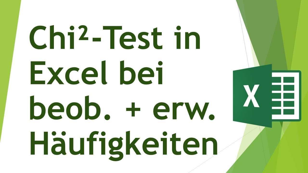 Chi Quadrat Test In Excel Durchfuhren Analysieren Von Daten In Excel 20 Youtube